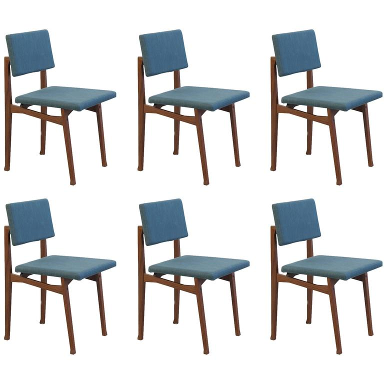 Set of Six 'Luisella' Chairs by Franco Albini 1