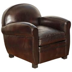 Deco Parisian Leather Club Chair