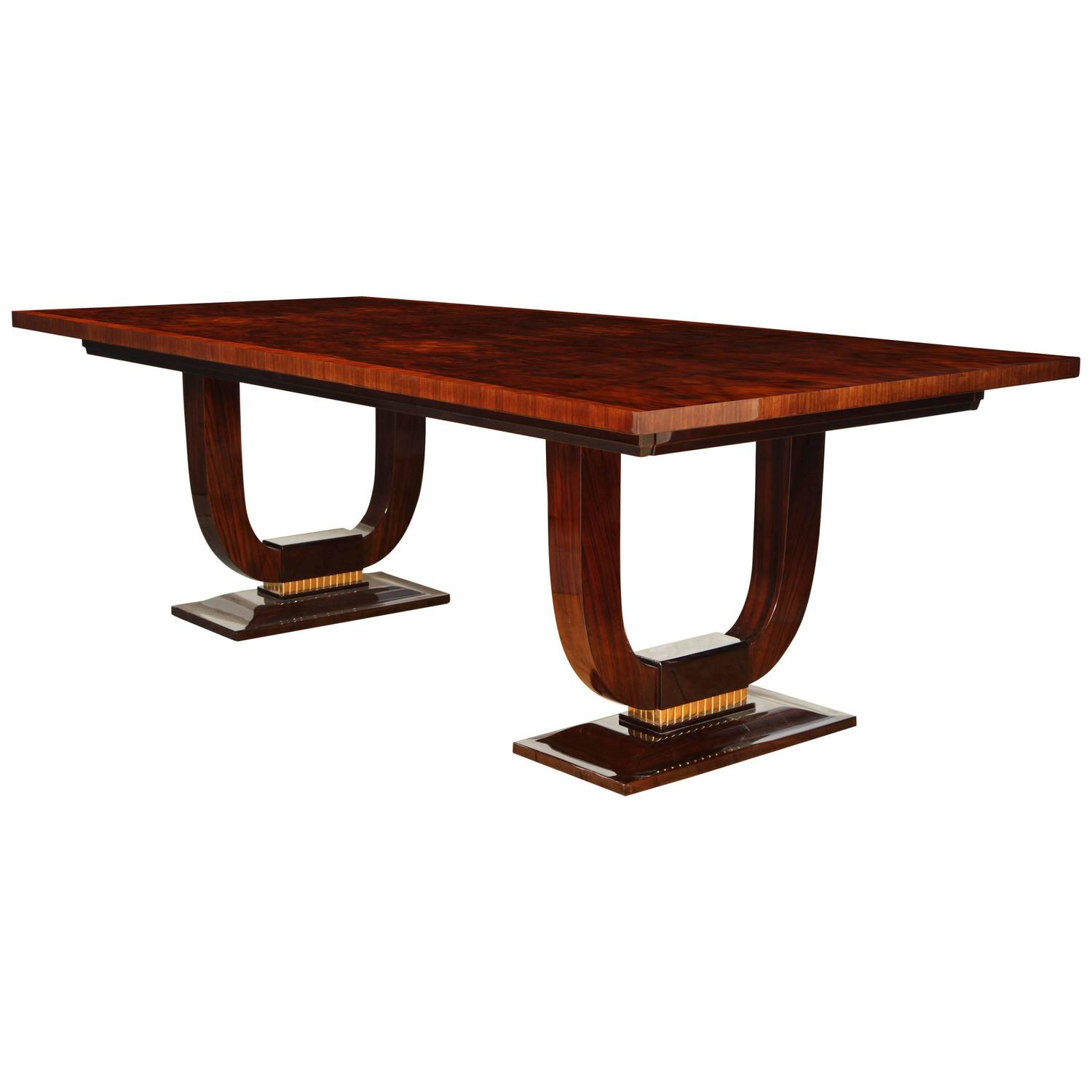 Art deco dining table at 1stdibs for Artistic dining room tables