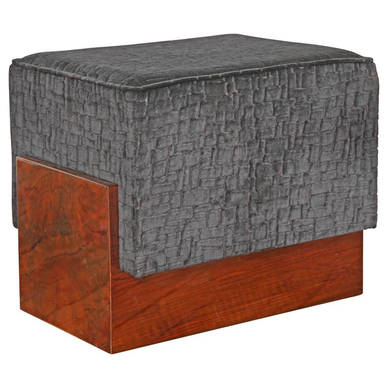 art deco ottoman pouf at 1stdibs. Black Bedroom Furniture Sets. Home Design Ideas