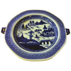 19th Century Chinese Export Nanking Warming Plate