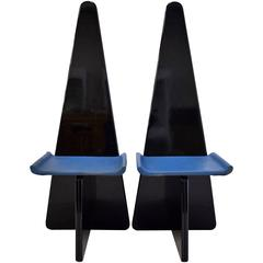 Two 1970s Sculpture Chairs by Antonio Ronchetti for Sormani