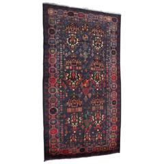 Multicolored Tribal Mask Persian Beluchi Rug
