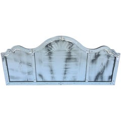 Etched Venetian Glass Overmantel Mirror
