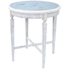 Painted Occasional Table with Mirrored Top