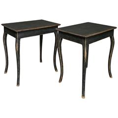 Pair of Black Side Tables