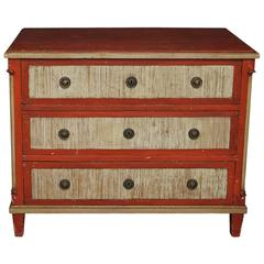 Neoclassical Chest of Drawers in Old Paint