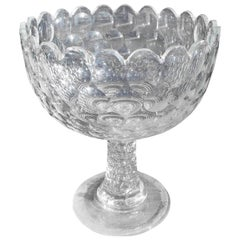 Early American Flint Glass Pattern Bowl, Circa 1830