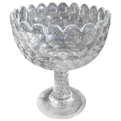 Early American Flint Glass Pattern Bowl, Circa 1830