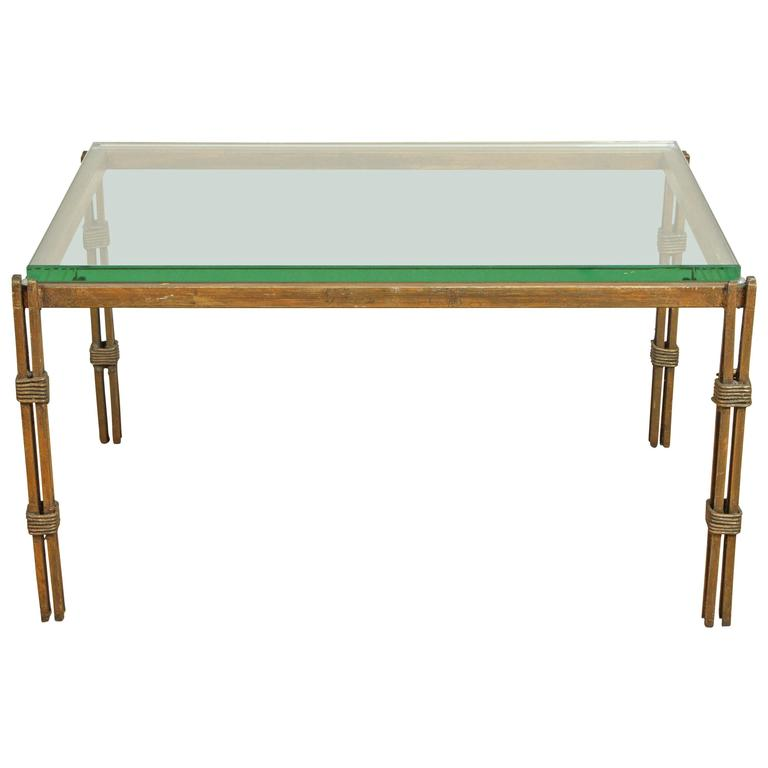 Vintage Wrought Iron And Glass Table At 1stdibs