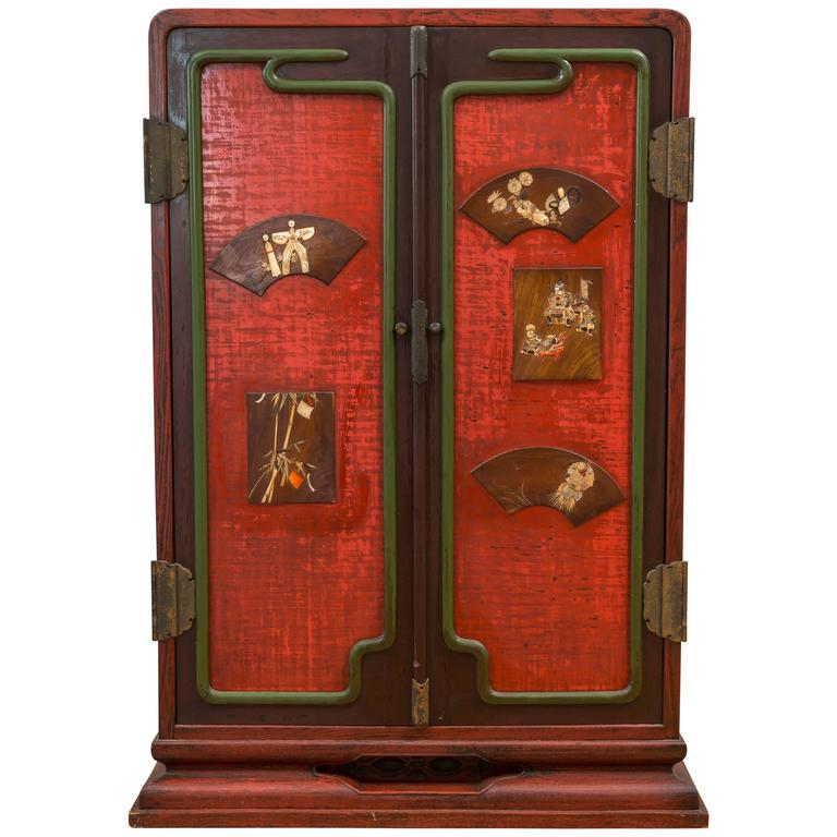 Exquisite Oversized Japanese Ten-Drawer Cabinet Meiji Period