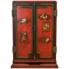 Exquisite Oversized Japanese Ten-Drawer Cabinet Meiji Period