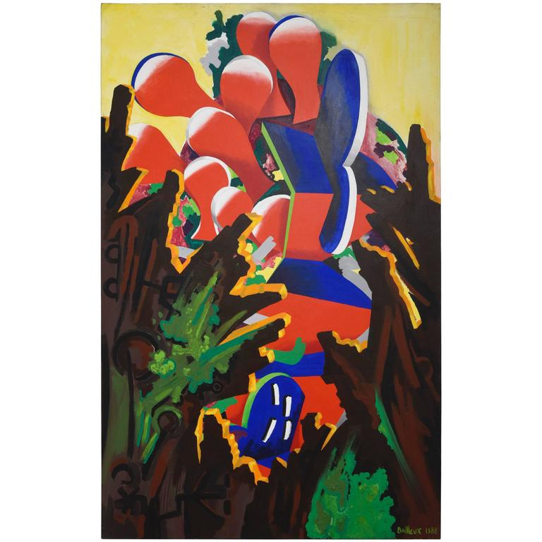 "Contemporary Art by Cesar Bailleux ""Het Venster,"" 1988"