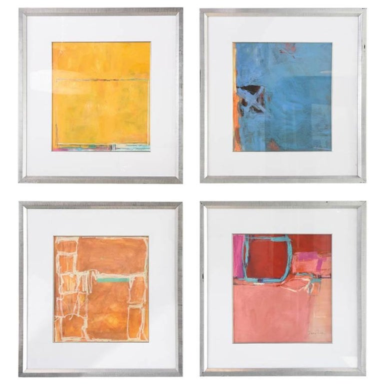 Abstract Expressionist Oil, Acrylic, and Watercolor Crayon, Doreen Noar For Sale