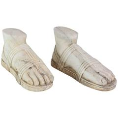 "Pair of Italian ""Grand Tour"" Marble Reductions of a Model of a Foot"