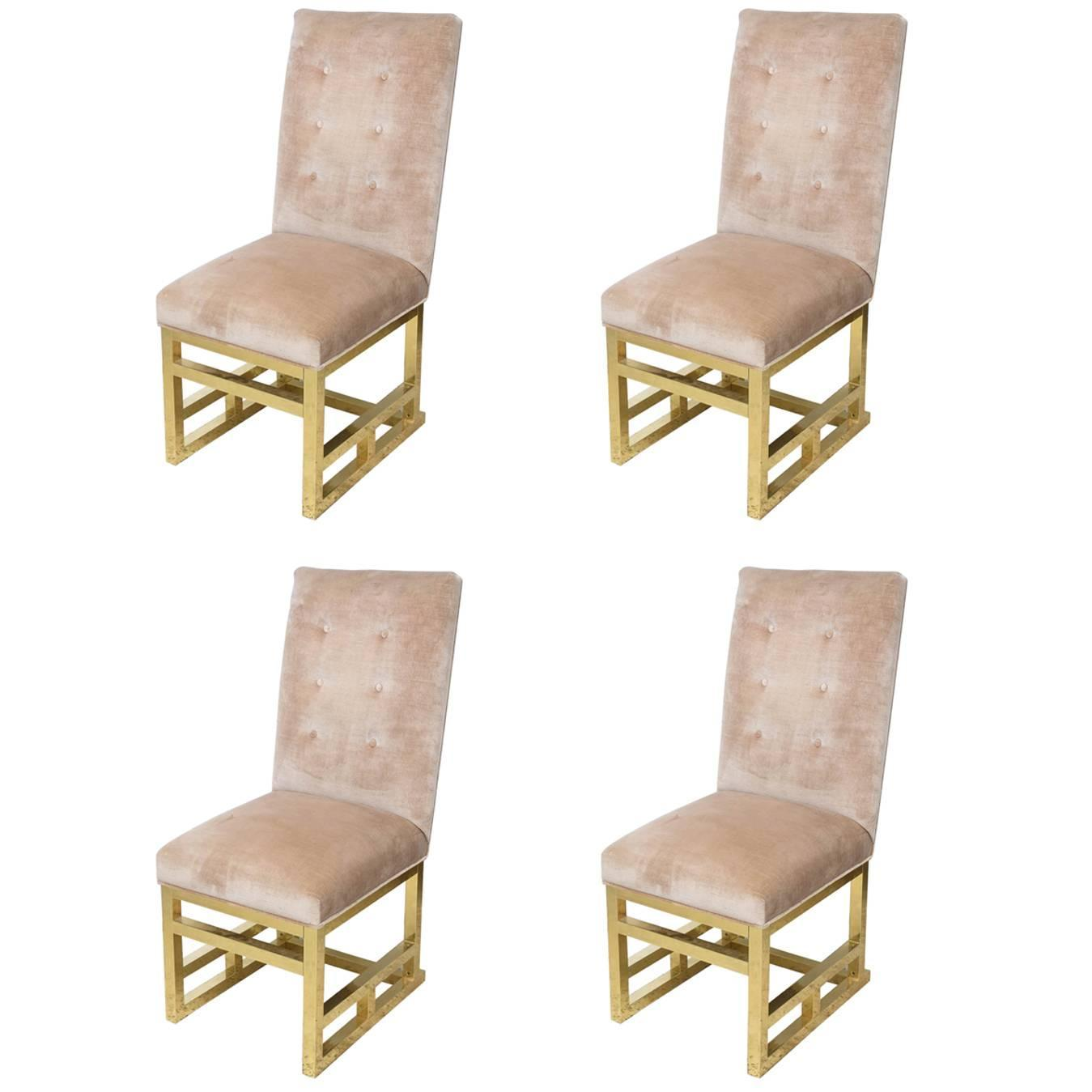 DIA Brass Dining Chairs 1970s USA at 1stdibs