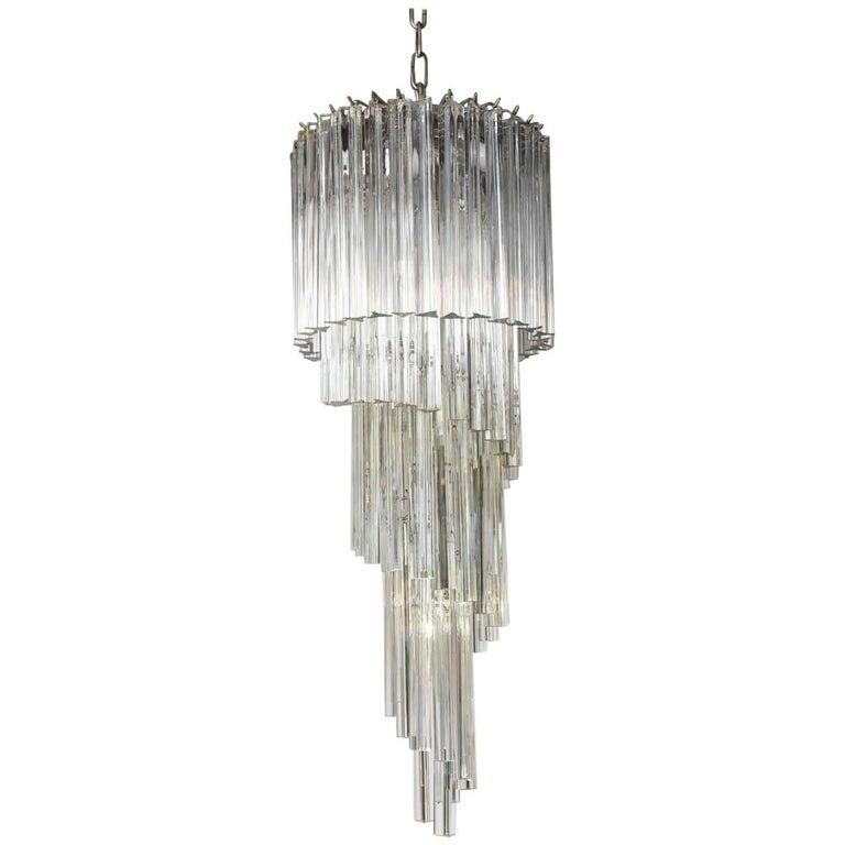 Spiral Camer Clear Glass Chandelier