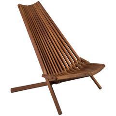 Mid-Century Teak Folding Chair