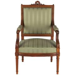 French Louis XVI Style Desk Armchair, Early 1900s