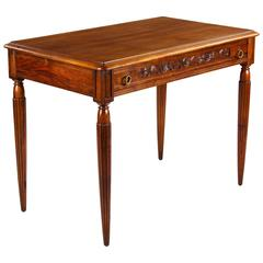 French Louis XVI Style Walnut Desk, Early 1900s