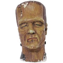 Chalkware Frankenstein Bust, circa 1930