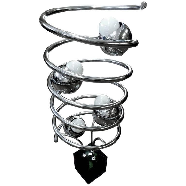 chrome spiral eyeball lamp for sale at 1stdibs