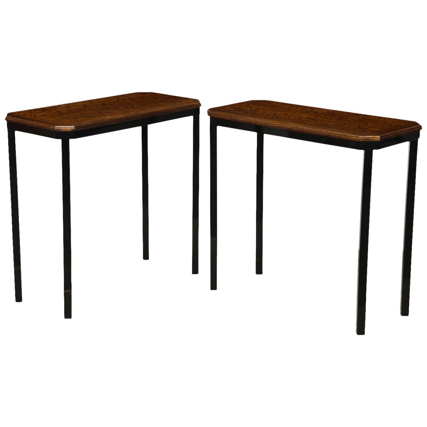 pair of petite console tables by paul laszlo at 1stdibs. Black Bedroom Furniture Sets. Home Design Ideas
