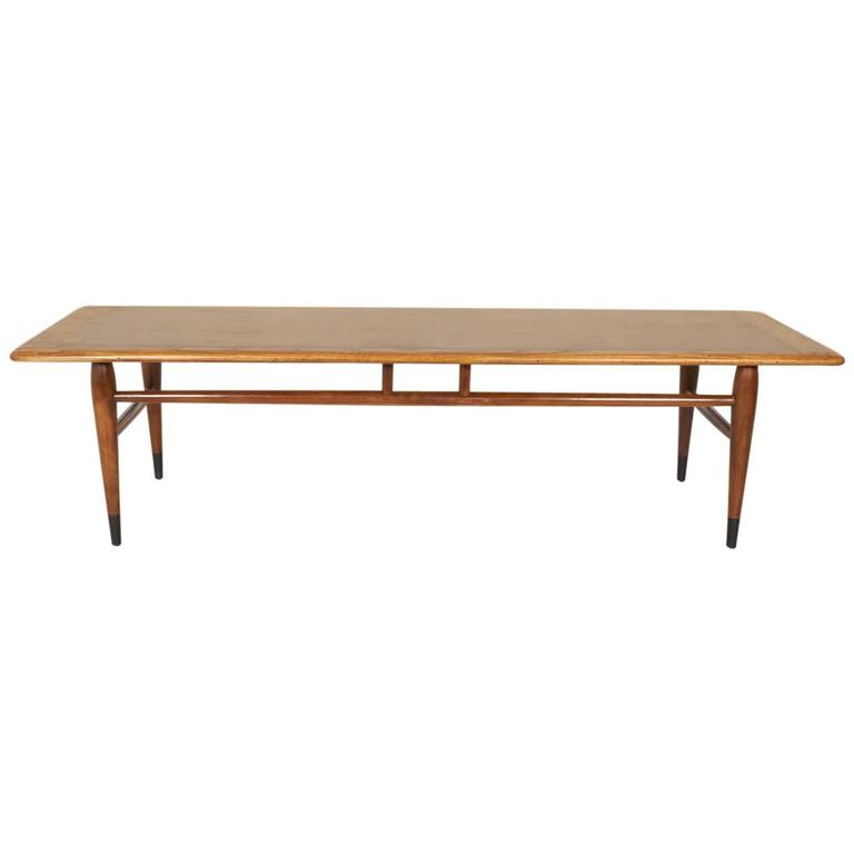 Modernist Walnut Coffee Table by Lane