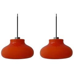 Set of Two Murano Pendant Lights