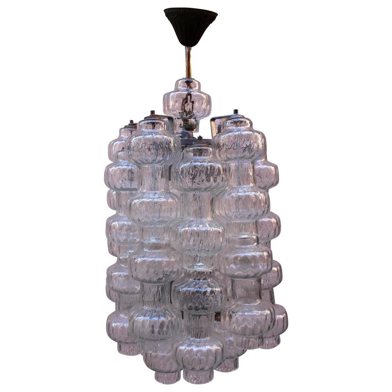 Italian Glass Chandelier by Vetreria Murano For Sale
