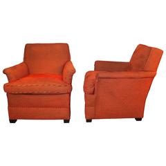 Pair of Upholstered Lounge Chairs