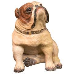 Terracotta Bulldog Statue