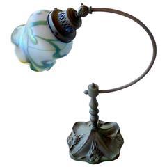 Bronze Art Glass Lamp
