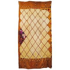 Silk Embroidered Chandi Phulkari Bagh Wedding Shawl from Punjab, India