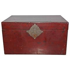 Antique Chinese Lacquer Trunk
