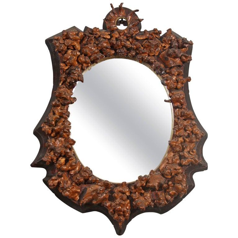 Folk Art Vintners Mirror For Sale