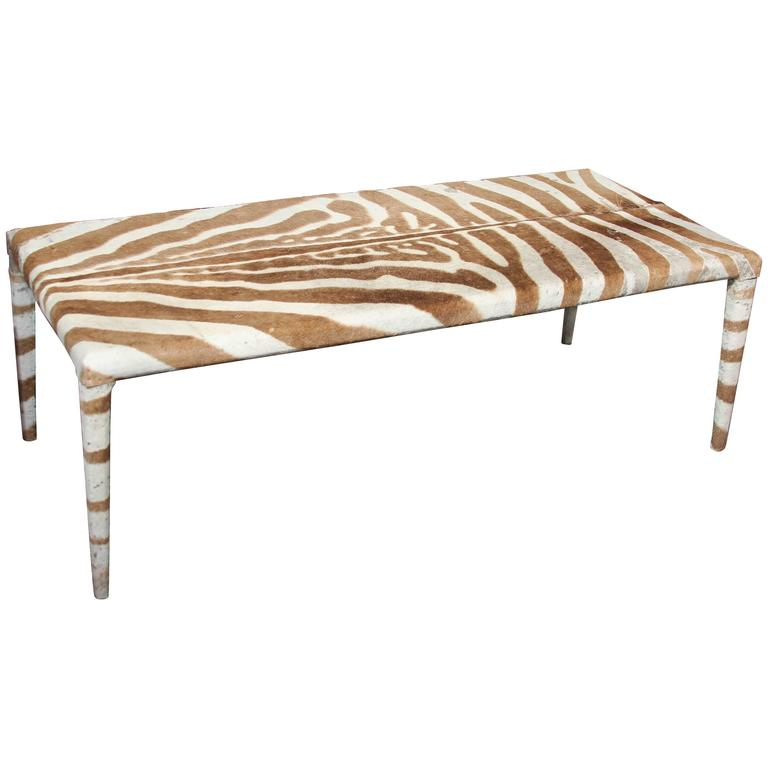 mid century coffee or cocktail table in zebra at 1stdibs. Black Bedroom Furniture Sets. Home Design Ideas