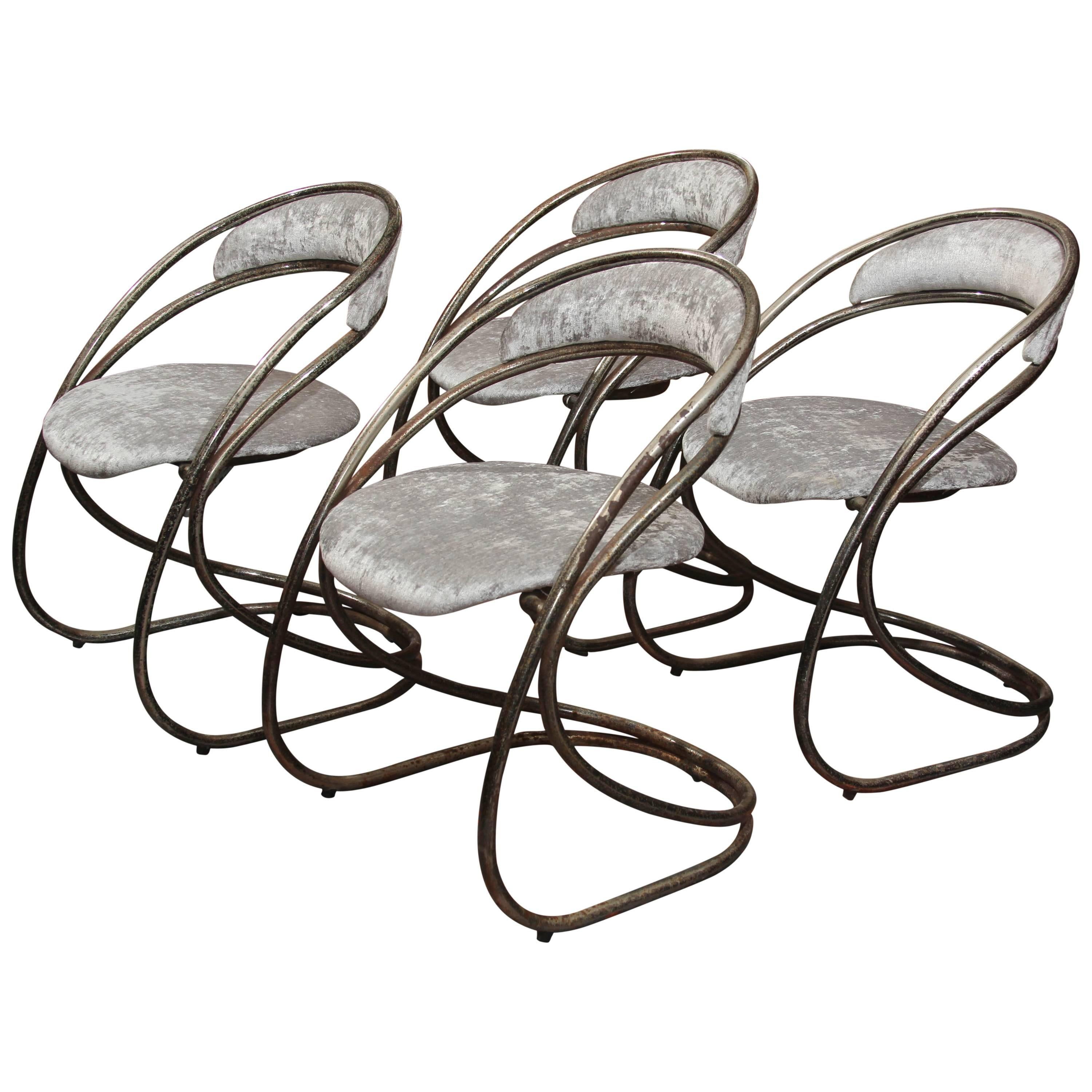 Set of Four French Casino Chairs