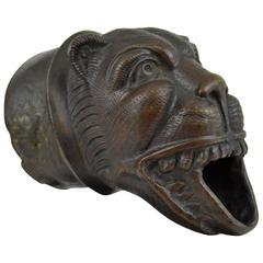 Medieval Bronze Lion Downspout