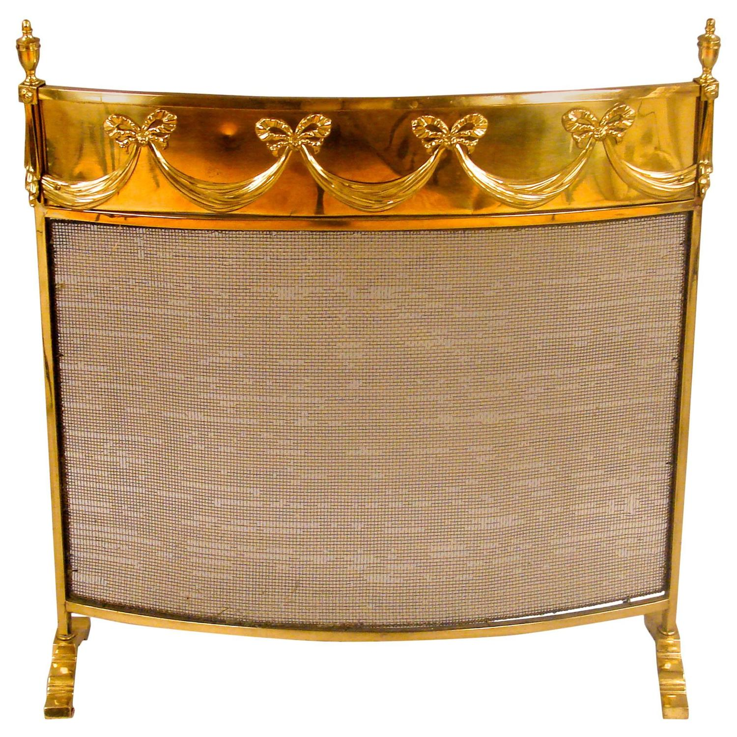 Edwardian Brass Fire Screen For Sale At 1stdibs