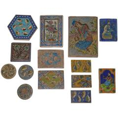 Set of 16 Old Persian Tile