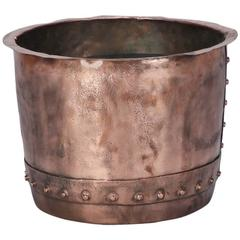 19th Century Large Hammered Copper Pot