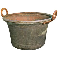 Copper Buckets with Iron Handles from France, circa 1890