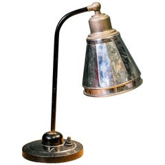 Vintage French Deco Style Gooseneck Table Lamp, circa 1930