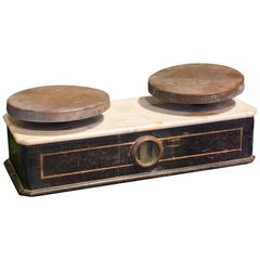 Antique French Marble-Topped Scale