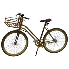 Martone Gold Bicycle with Basket