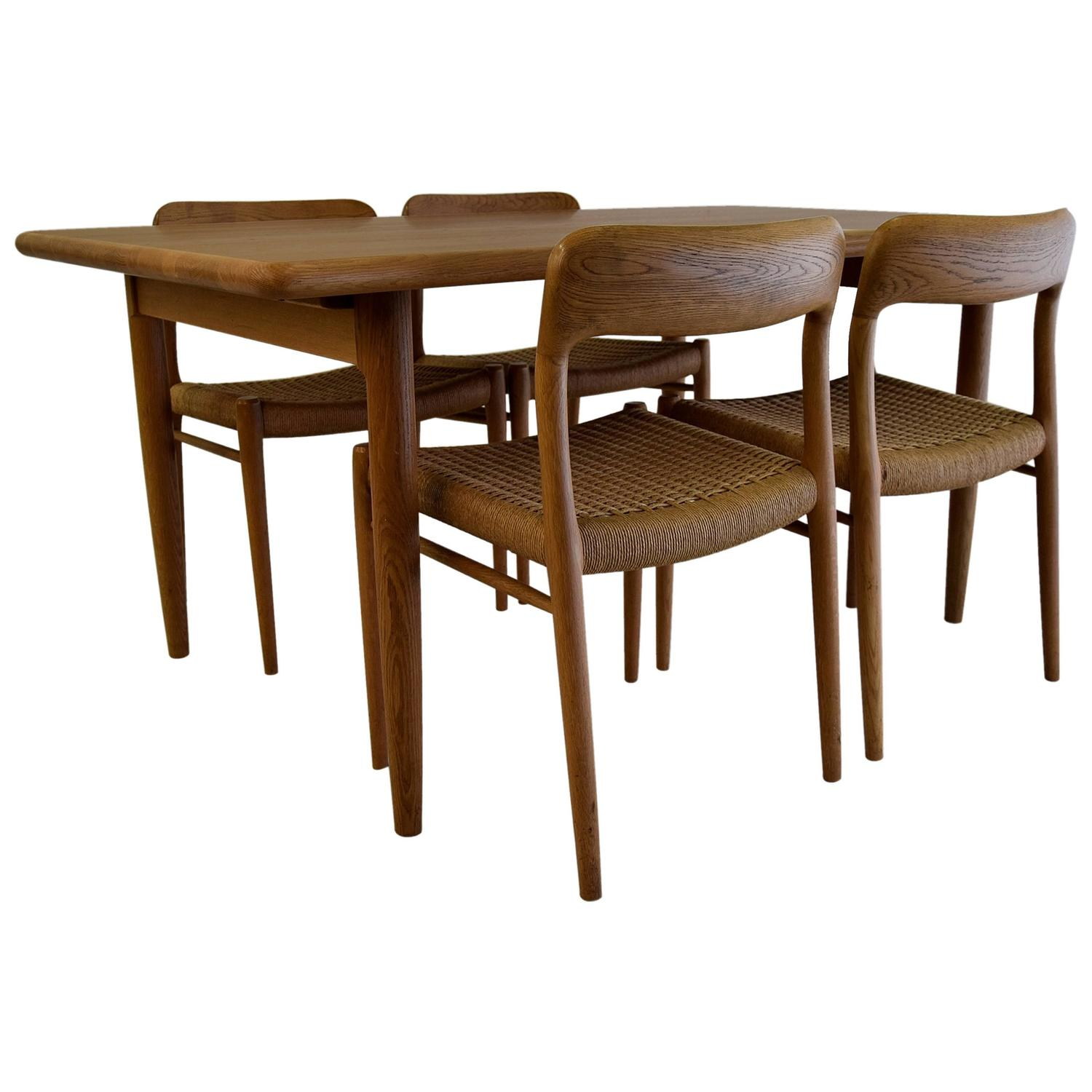 1950s Dining Set By Niels Møller For Sale At 1stdibs