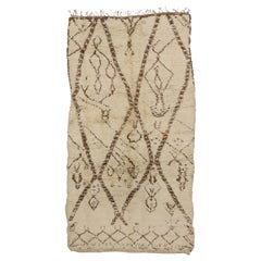 Vintage Moroccan Rug with Tribal Style, Neutral Color Berber Moroccan Rug