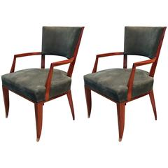 Pair of Lucien Rollin Armchairs