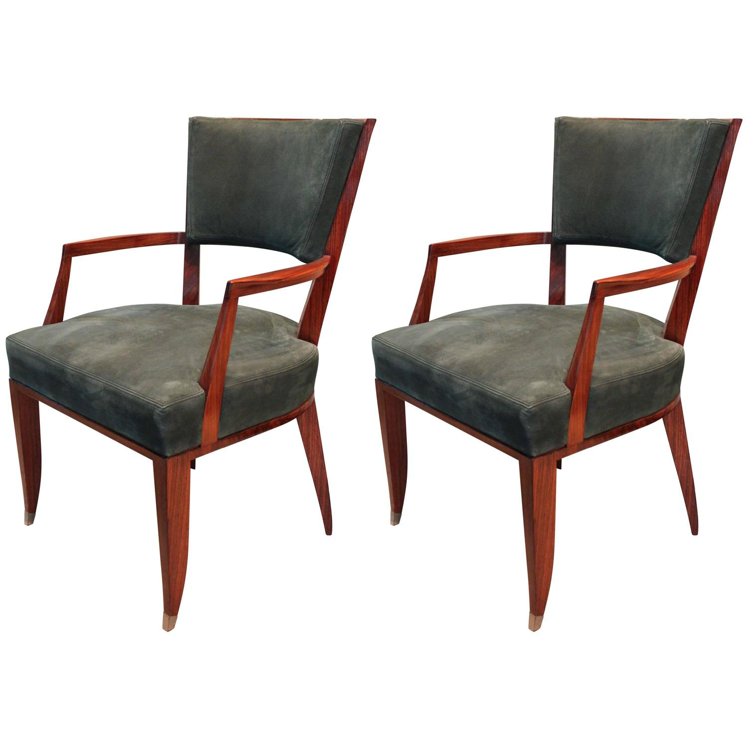 Pair Of Lucien Rollin Armchairs For Sale At 1stdibs